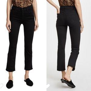MOTHER  The Insider Crop Jeans Black 25